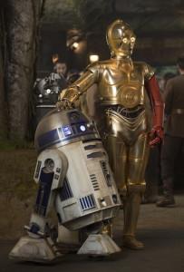 Die Droiden R2D2 und C3PO ...