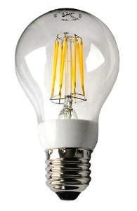 Abb. 1: Neuartige LCC/LED-Glühbirne; einer Kohlefaden-Glühlampe nachempfunden.