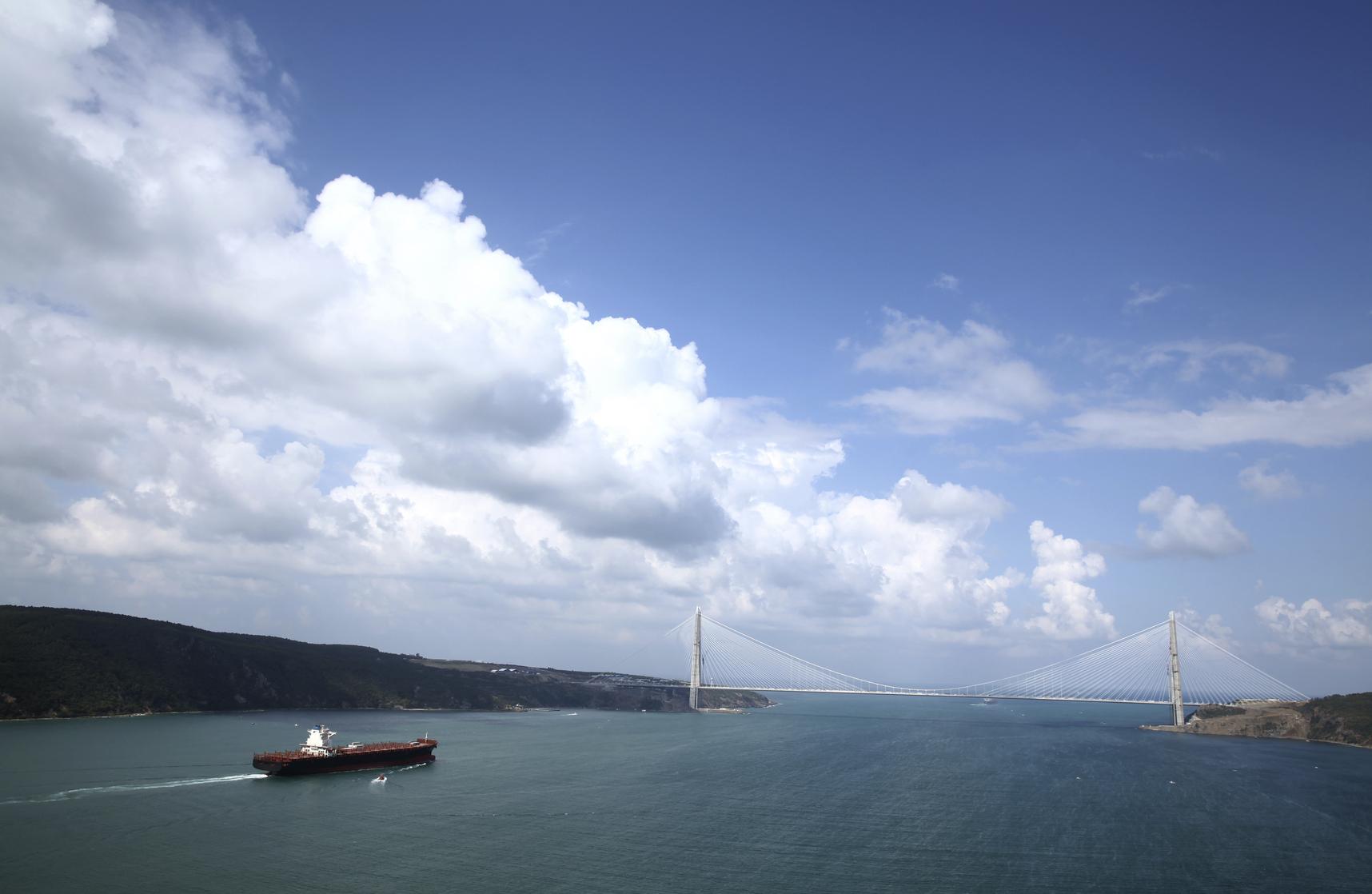 Istanbul's third bridge over Bosporus  - Yavuz Sultan Selim Bridge