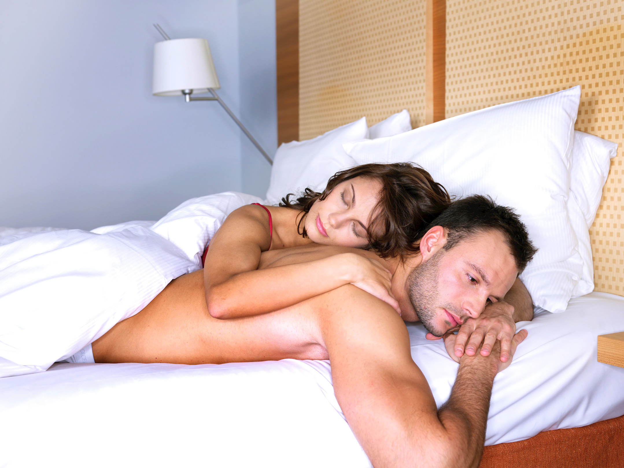 couple with problems in bed