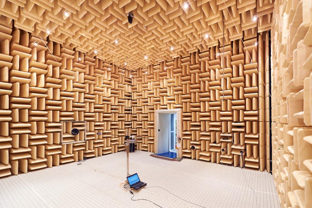 Für Menschen ist das Gefühl im echofreien Raum alles andere als behaglich, denn die Wände schlucken den Schall komplett. Bild zvg/Metas