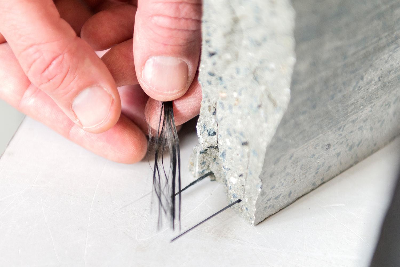 Feine Karbonstränge in der dünnen Betonplatte sorgen für Stabilität. Bild ZHAW